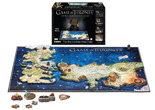 4D CITY SCAPE Puzzle zusammensteckbar und Puzzle4D City Scape Game of Thrones Westeros and Esos, Mehrfarbig (1000)