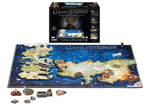 4D CITY SCAPE Puzzle zusammensteckbar und Puzzle4D City Scape Game of Thrones Westeros and Esos, Mehrfarbig (1000)