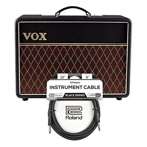 Vox AC10C1 10w 1x10 Combo Cable Bundle