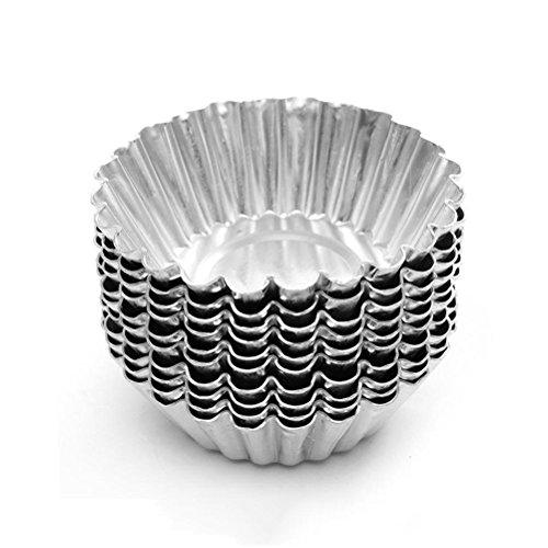 Dealglad - Pack de 20 tartaletas de aluminio para cup cakes, galletas y bizcochos
