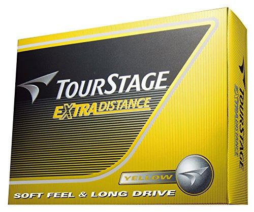 BRIDGESTONE(ブリヂストン) ゴルフボール TOURSTAGE エクストラディスタンス 1ダース( 12個入り) イエロー ...