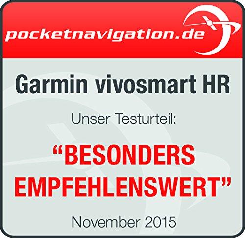 Garmin vívosmart HR Fitness-Tracker – integrierte Herzfrequenzmessung am Handgelenk, Smart Notifications, Schwarz, M – L (13,7-18,8 cm) - 14