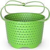 Avokado Silicone Steamer Basket for 8qt Instant Pot [3qt, 6qt avail], Ninja Foodi and Instant Pot Accessories - Perfect Pressure Cooker Accessory - Rust and Dent Free - 8QT, Green