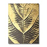 qingqingzijin Cartel de Hoja de árbol Dorado Pared Arte Abstracto Lienzo Pintura Moderna decoración del hogar imágenes A179 50 × 70 CM sin Marco
