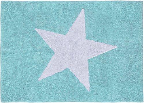 Aratextil. Tapis pour enfant 100% coton lavable en machine à laver Collection stèle Mint 120 x 160 cm