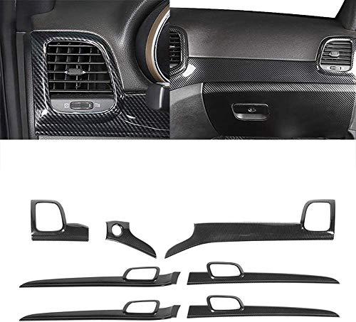 NBPLUS 7 piezas embellecedores para consola central de Abs para Jeep Grand Cherokee 2011 + accesorios interiores de coche