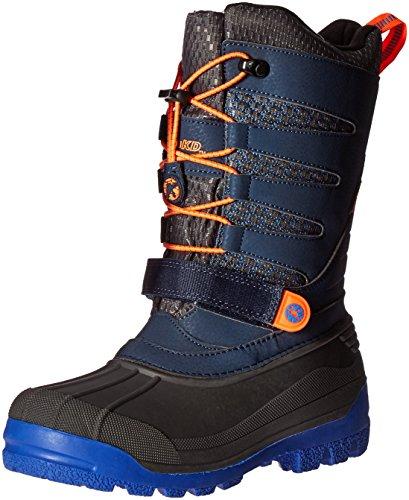 JambuKD Venom Boy's Outdoor Snow Boot, Navy/Orange, 5 M US Big Kid