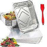 10 Teglie Alluminio Usa e Getta (1900ml ),Vaschette Monouso con Coperchio,per Cottura al Forno Arrostire e Cucinare