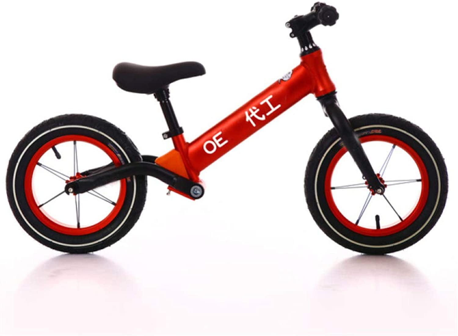 YSH Balance Bike Kids Walker Scooter,Explosionproof Rubber Wheel,Suitable For Ages 26,Height  80120cm,Adjustable Height,Red
