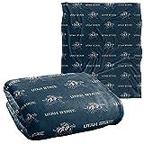 Utah State University Aggies Blanket, 50' x 60', Logo Pattern, Silky Touch Super Soft Throw