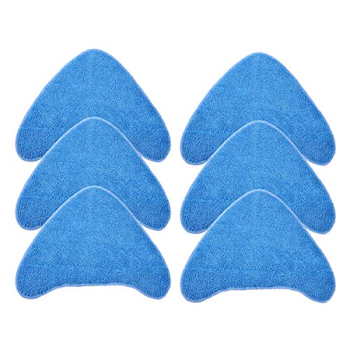KEEPOW 6 Pcs Microfibre Cleaning Mop Pads Replacement Compatible with Vax Steam Cleaner S85-CM S86-SF-CC S86-SF-C, Compares to 1-1-131448-00