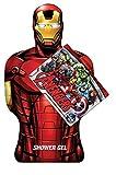 Iron Man Gel doccia Questo gel doccia Iron Man effigie trasporterà i bambini nel fantastico mondo dei Vendicatori Contenuto: Gel Doccia 350 ml; testato sotto controllo dermatologico; ingredienti di origine naturale; paraben e tintura