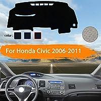 OZLXKNC カーダッシュボードカバーダッシュマットダッシュマットダッシュボードパッドサンシェードカーペットカースタイリング、ホンダシビック8 FB FK FA FD 2006〜2011用