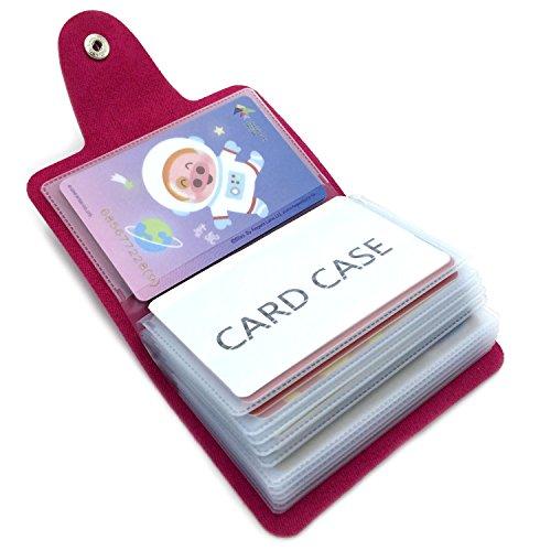 Porte-cartes de Crédit pour les Femmes Homme - 24 Fentes (Rouge Clair)