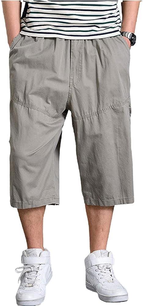Max 76% OFF chouyatou Men's Loose-Fit Calf Length Comfy 3 Baggy Shorts Free shipping Cot 4