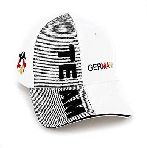 Team4YourLife Unisex Baseballkappe Team Germany Edition, weiß, 54-60 cm