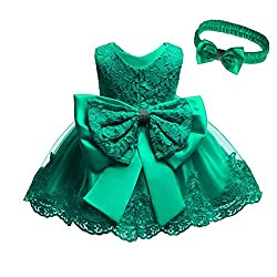 Green Color Tutu Dress With Rhinestones for Baby