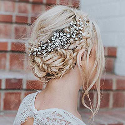 Artio Wedding Hair Comb Hair Accessories with Crystal Rhinestones for Women