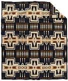 Pendleton Harding Jacquard Wool Bed Throw Blanket, Oxford, King Size