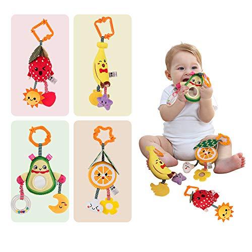 TUMAMA Babyspielzeug 6 Monate Soft Rassel Kinderbett Kinderwagen Kinderwagen Spielzeug für Neugeborene Autositz Obst Rassel Babyspielzeug 0 12 Monate