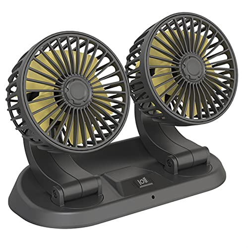 ventilador de coche 1 2V 24V 360 Grado todo redondo ajustable ventilador aire enfriamiento de aire doble cabeza o USB 5V Ventilador de cabeza de cabeza de un solo cabezal Fan del aire del refrigerador