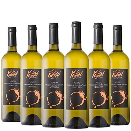 BERGAMO VINI - Verduzzo igp - Vino dalle note particolarmente dolci, ottenuto dal parziale appassimento delle uve in pianta - Pacco da 6 bottiglie x 750ml