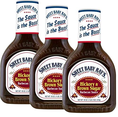 Sweet Baby Ray's Hickory BBQ Sauce, 18 oz, 3 Pack - 3 pk.