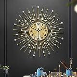 BCXGS Orologio da Parete con Brillantini Grande - Orologio da Parete Silenzioso - Non ticchetti - Decorazioni per La Casa per Camera da Letto,65x65cm