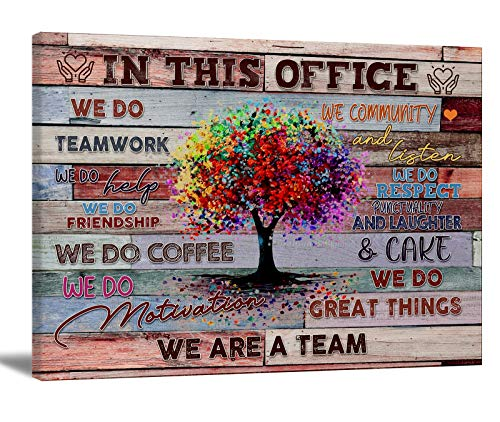 Inspirational Wall Art For Office Motivational Teamwork Poster Quotes Office Wall Decor for Women inspirational Wall Decor Photo Prints For Office Or Bedroom Office Gift 24x16in Frameless