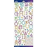 Sticko E5290075 Alphabet Stickers, Multi Gasoline Alley Glitter