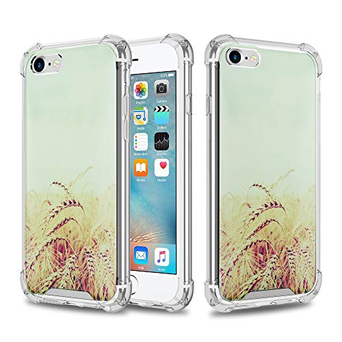 Preisvergleich Produktbild Cadorabo Hülle für Apple iPhone 6 / iPhone 6S - Hülle im Design KORNFELD Handyhülle aus TPU Silikon mit Aufdruck - Silikonhülle Schutzhülle Ultra Slim Soft Back Cover Case Bumper