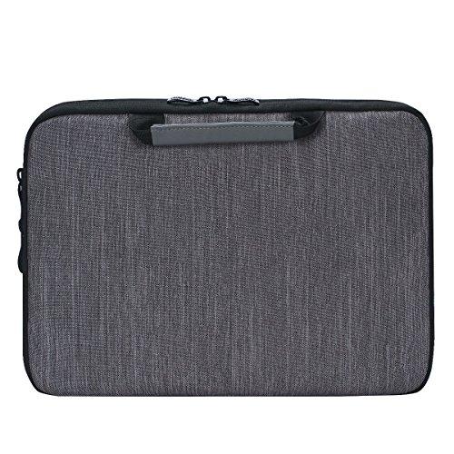 iCozzier 13-13,3 Zoll Notebook Hülle Sleeve Tasche mit Griffen/Multifunktionale Aufbewahrungs Zubehörtasche für 13 Zoll Laptop/Ultrabook/Notebook/Netbook/MacBook - Grau - 5