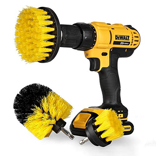 Drill Brush Attachment Set,Power Scrubber Brush Cleaning Kit All Purpose Drill Brush for Bathroom Surfaces, Grout, Floor, Tub, Shower, Tile, Corners, Kitchen, Grill Fit Most Drills(Drill Not Included)