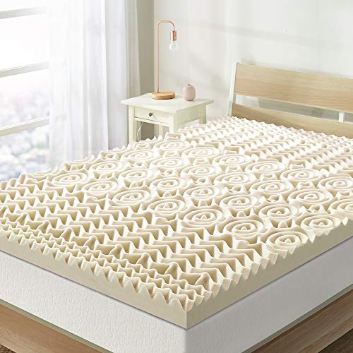 Best Price Mattress 3 Inch 5-Zone Memory Foam Topper, Mattress Pad with Antimicrobial Copper Infusion, CertiPUR-US Certified, Twin