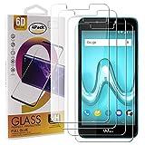 Guran 4 Paquete Cristal Templado Protector de Pantalla para Wiko Tommy 2 Plus Smartphone 9H Dureza Anti-Ara?azos Alta Definicion Transparente Película