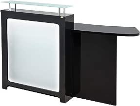 Reception Desk All Purpose Reception Counter Reception Area Desk With Illuminating Led Lights - Gattino