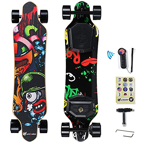 Electric Skateboard, Electric Longboard with Remote for Adults and Teens, 450W Brushless Motor, 20...
