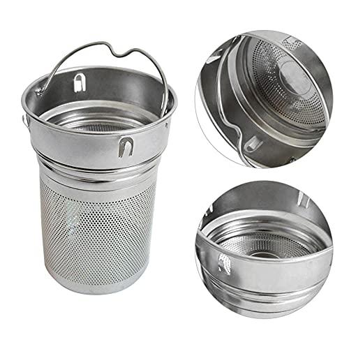 ZSSGSHR Beber té infusores portátil oficina té colador acero inoxidable agujero láser especias taza senderismo dos malla hogar botella