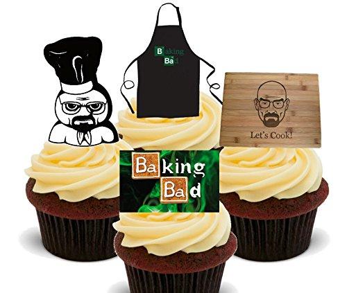 Made4You Baking Bad/Let 's Cook, decoración para tartas stand-up oblea comestible cupcake toppers, Pack de 24