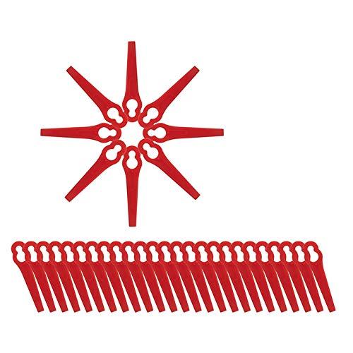 Halcyerdu 70Pcs Cuchillas para cortacésped, Rojo Cuchillas de Repuesto, Cuchilla de Recambio para cortabordes para FRT18A / FRT18A1 / FRT20A1 / Art 26–18LI / ART23–18 LI / 1083-B3–0009 / Art 46155