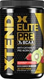 XTEND Elite Pre BCAA Powder Anti-Catabolic Pre Workout Drink with Branched Chain Amino Acids BCAAs, Strawberry Kiwi Splash, 30 Servings