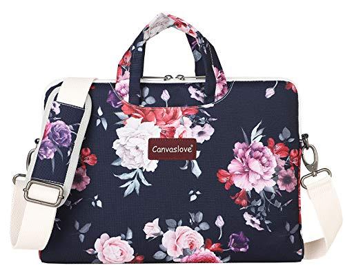 Canvaslove Lightweight Waterproof Laptop Shoulder Bag (12 inch-13 inch, Rosa Chinensis)