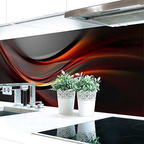 Küchenrückwand Abstrakt Dunkel Premium Hart-PVC 0,4 mm selbstklebend 340x60cm