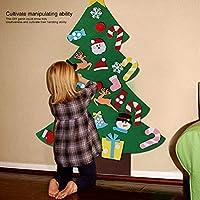 Wosume Ornamenti Natalizi, Tessuto in Feltro di qualità Albero di Natale in Feltro, abilità motorie Fini Albero di Natale Fai-da-Te Coordinazione Occhio-Mano 27 Pezzi Ornamenti per Soggiorno di #7