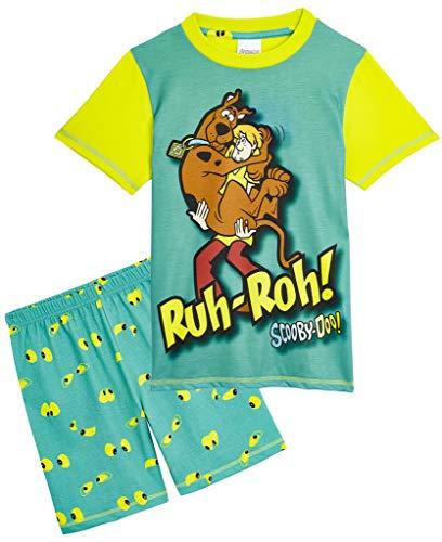 Scooby Doo Jongens Pyjama 2 Stuk Korte Pyjama Set, Katoen Jongens Pjs met Print van Shaggy en Scooby, Kids Nachtkleding Geschenken voor Jongens Meisjes Tieners Leeftijd 3-12 Jaar