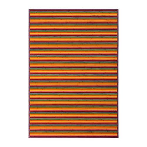 Alfombra de salón Pop Naranja de bambú 140 x 200 cm