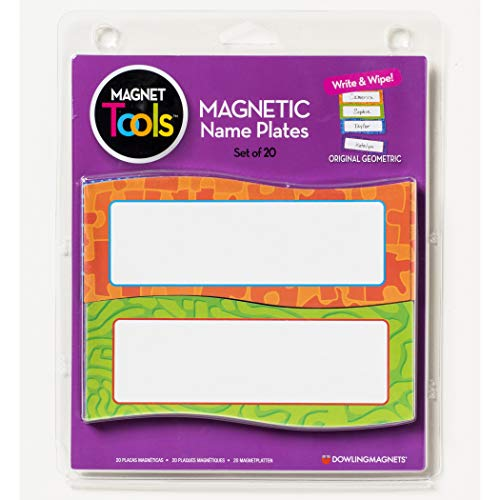 Dowling Magnets DO-735205 Magnetic Name Plates, Geometric, Set of 20