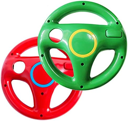 Wii steering wheel for Wii Mario Kart Racing Wheel for Nintendo Wii U Remote Controller Red product image