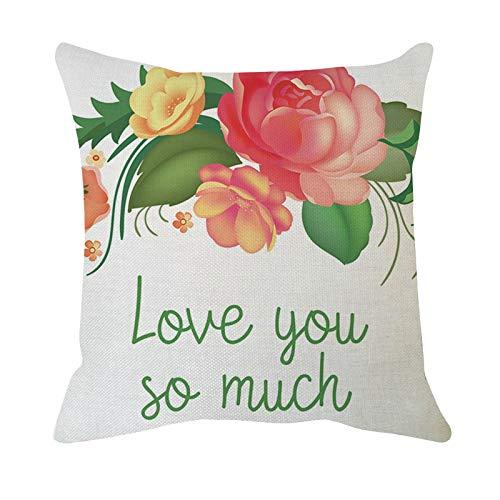 Hunpta @ Valentinstag Kissenbezug Mode Blumenserie Kissenhüllen Kopfkissenbezug für Wohnzimmer Schlafzimmer Sofa Büro Zuhause Deko Zierkissenbezüge mit Reißverschlüsse
