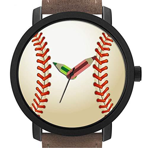 Geschenk für Erwachsene   Kinder   Geburtstag   Stilvolle niedliche Armbanduhr mit Bleistift Form Pointer Ornament Geschenk 033.Baseball
